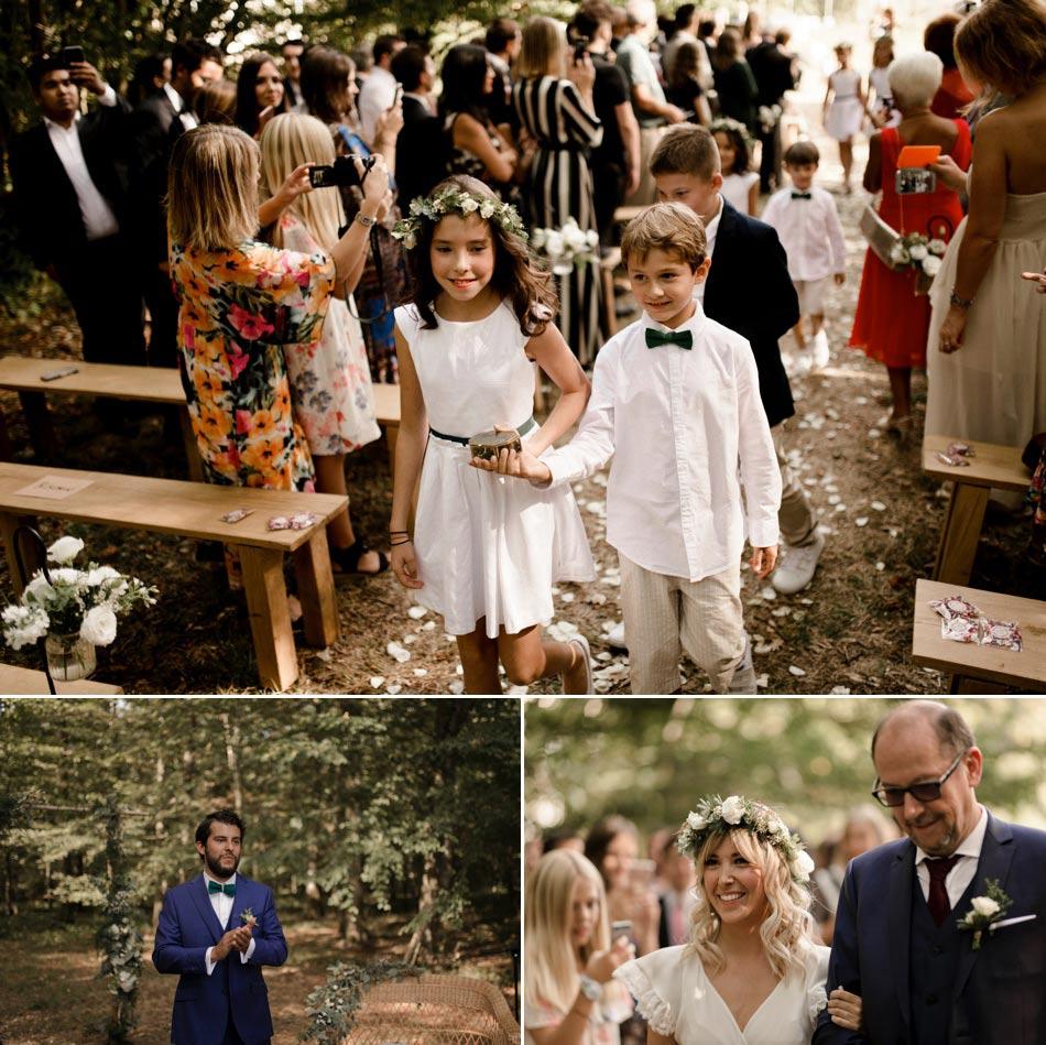 cortgege cérémonie mariage bourgogne