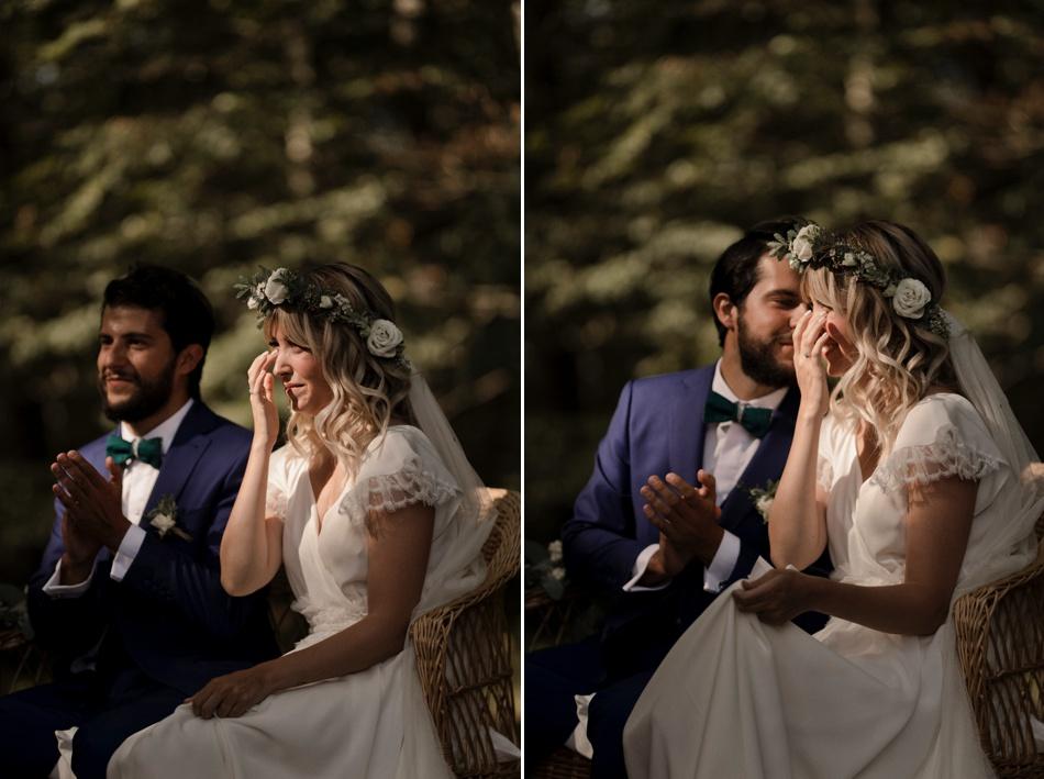couple de mariés cérémonie emotions