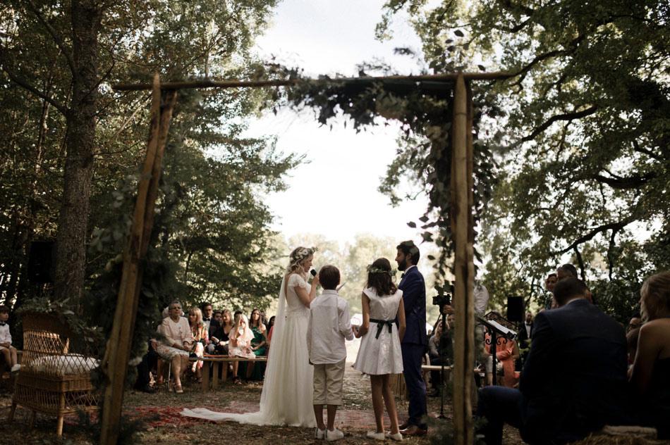 arche en bambou cérémonie mariage
