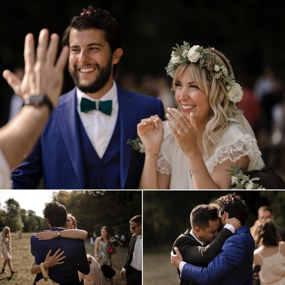 emotions du marié et de ses témoins en photo