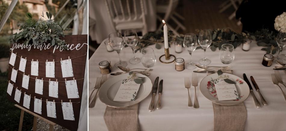 tablée de mariage champetre en exterieur