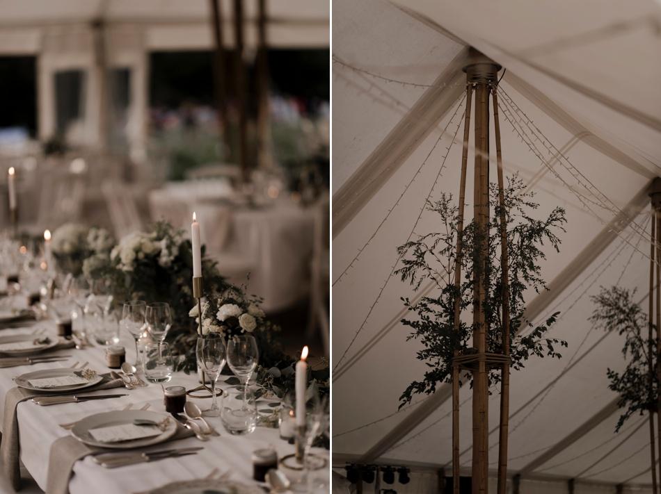 diner en plein air tente bambou mariage