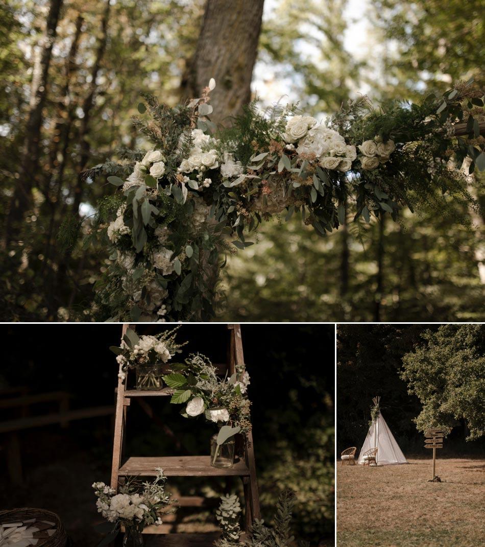 mariage greenery