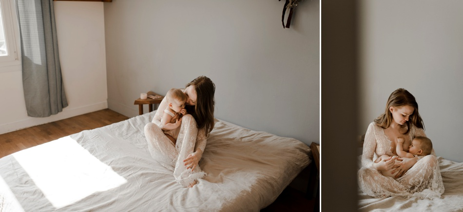 séance photo d'allaitement caen