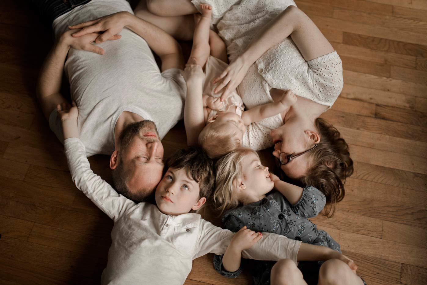 session photo en famille nombreuse