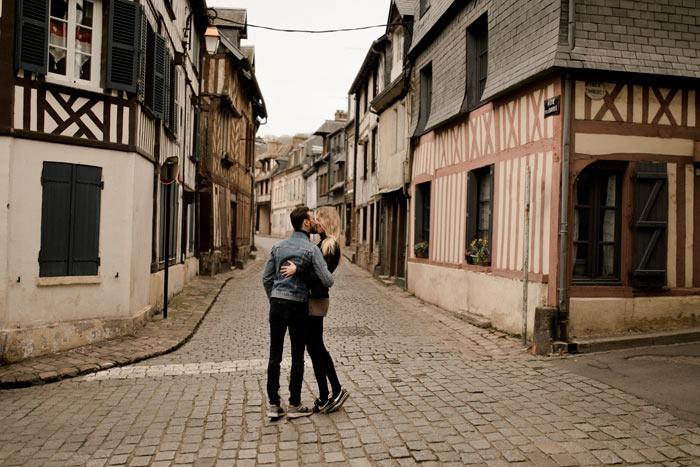 Photoshoot couple Normandie