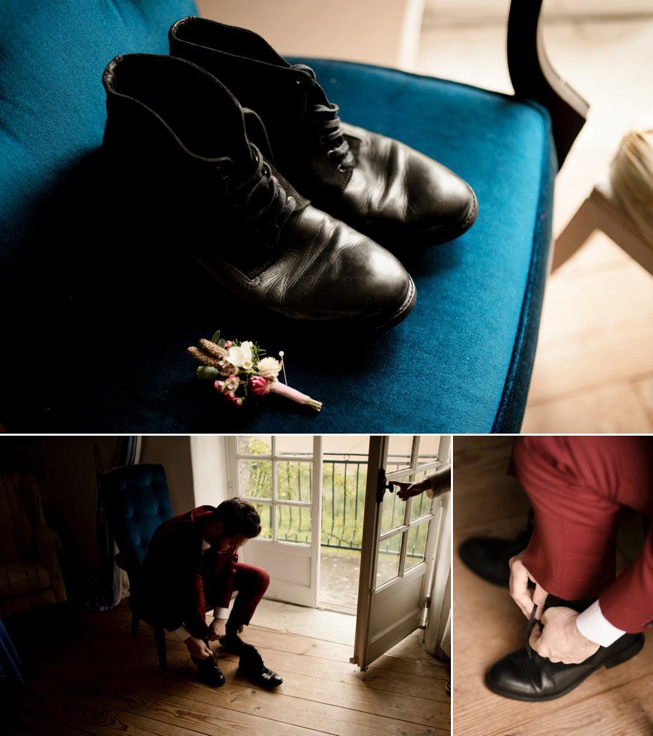 chaussures du marié boots