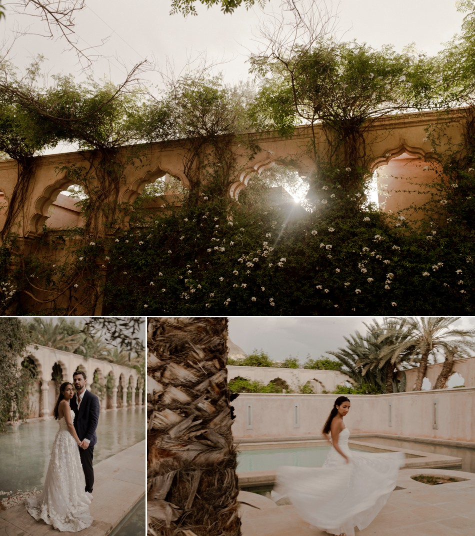 Romantic wedding in moroco