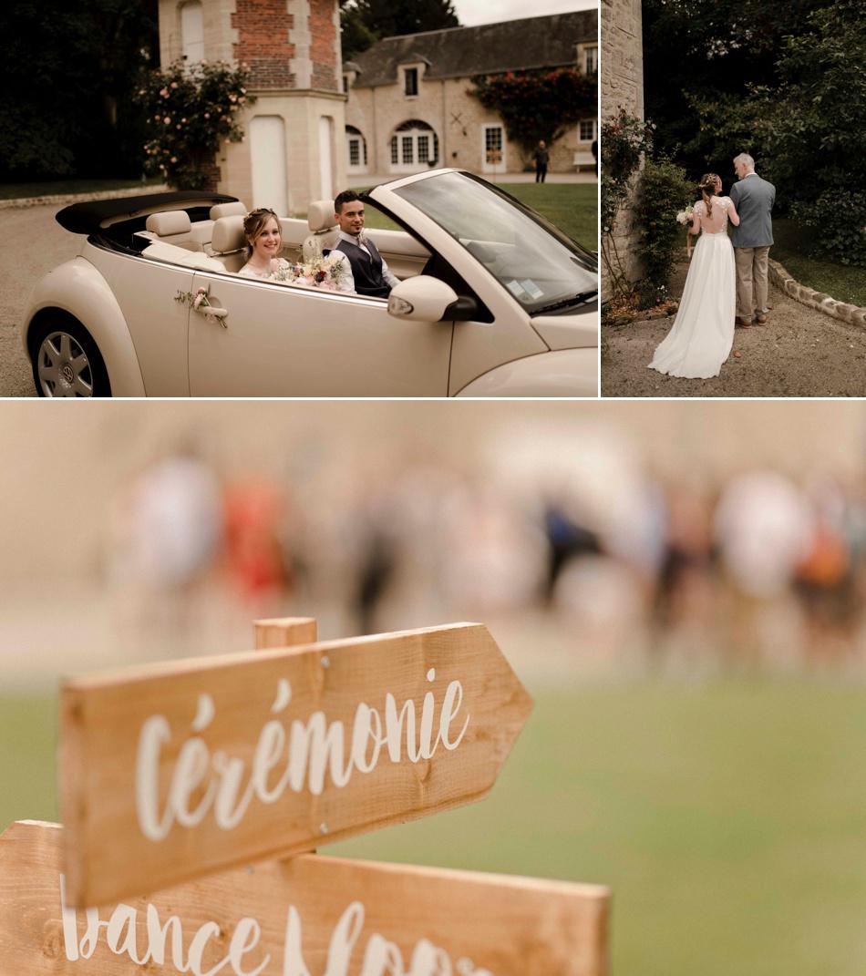 panneaux directionnels mariage
