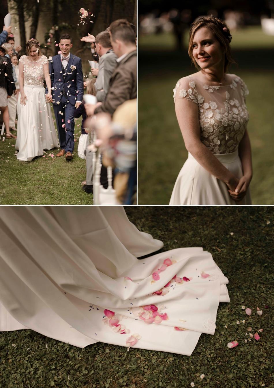 lancer de pétales de fleurs cérémonie mariage