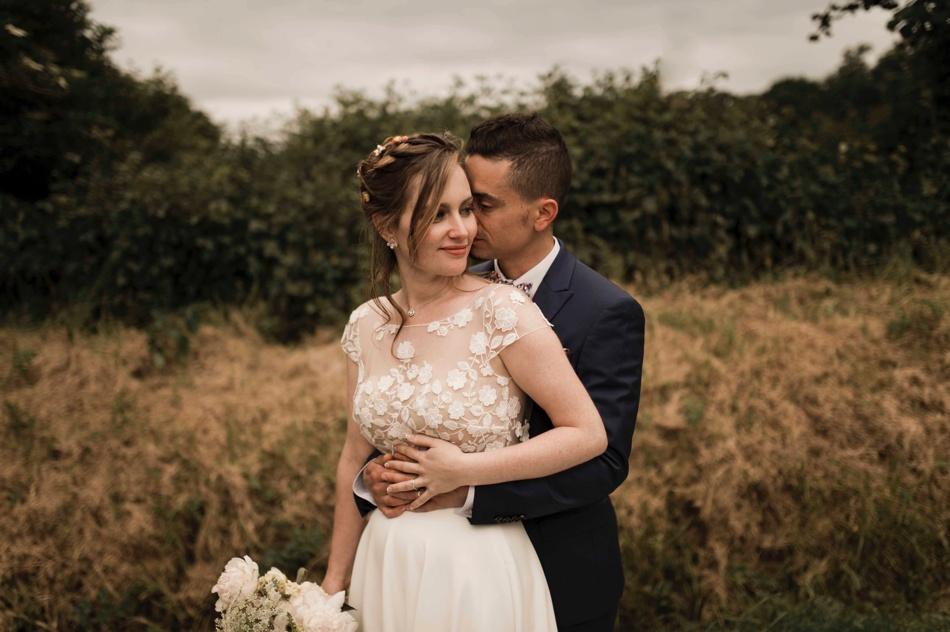 mariage bohème dans les champs à caen