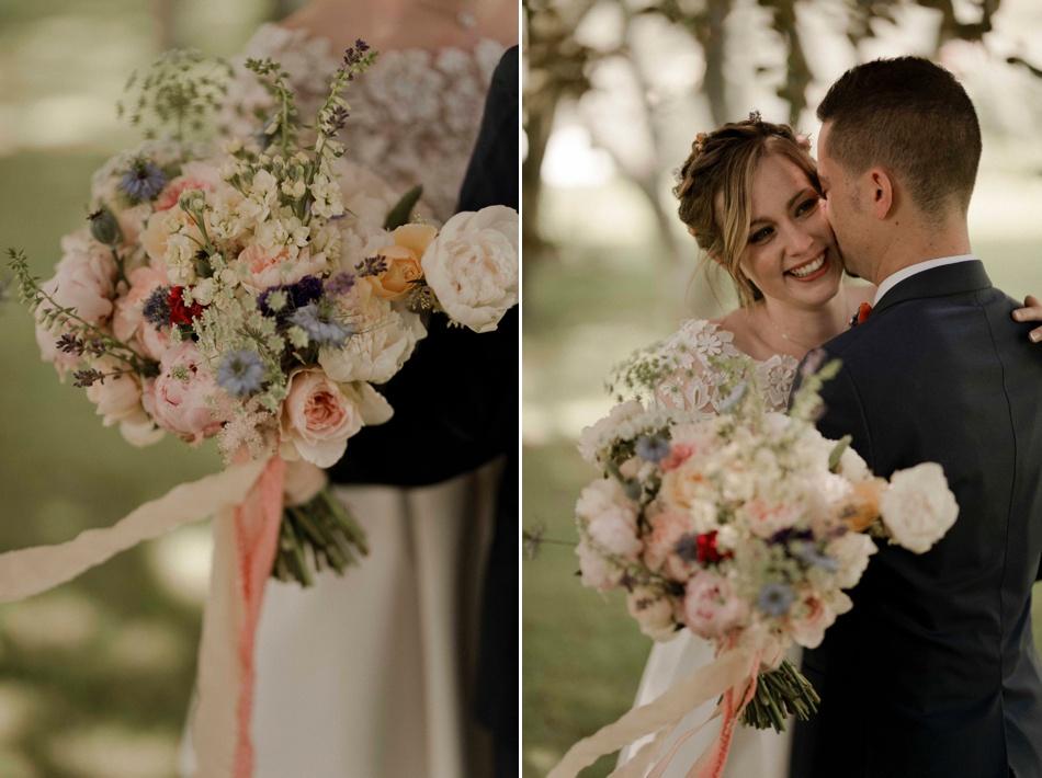 bouquet de mariée fleurs de saison