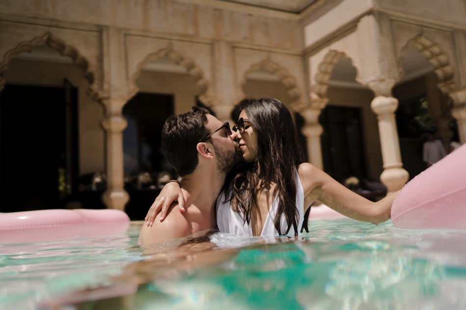 wedding pool party in morocco