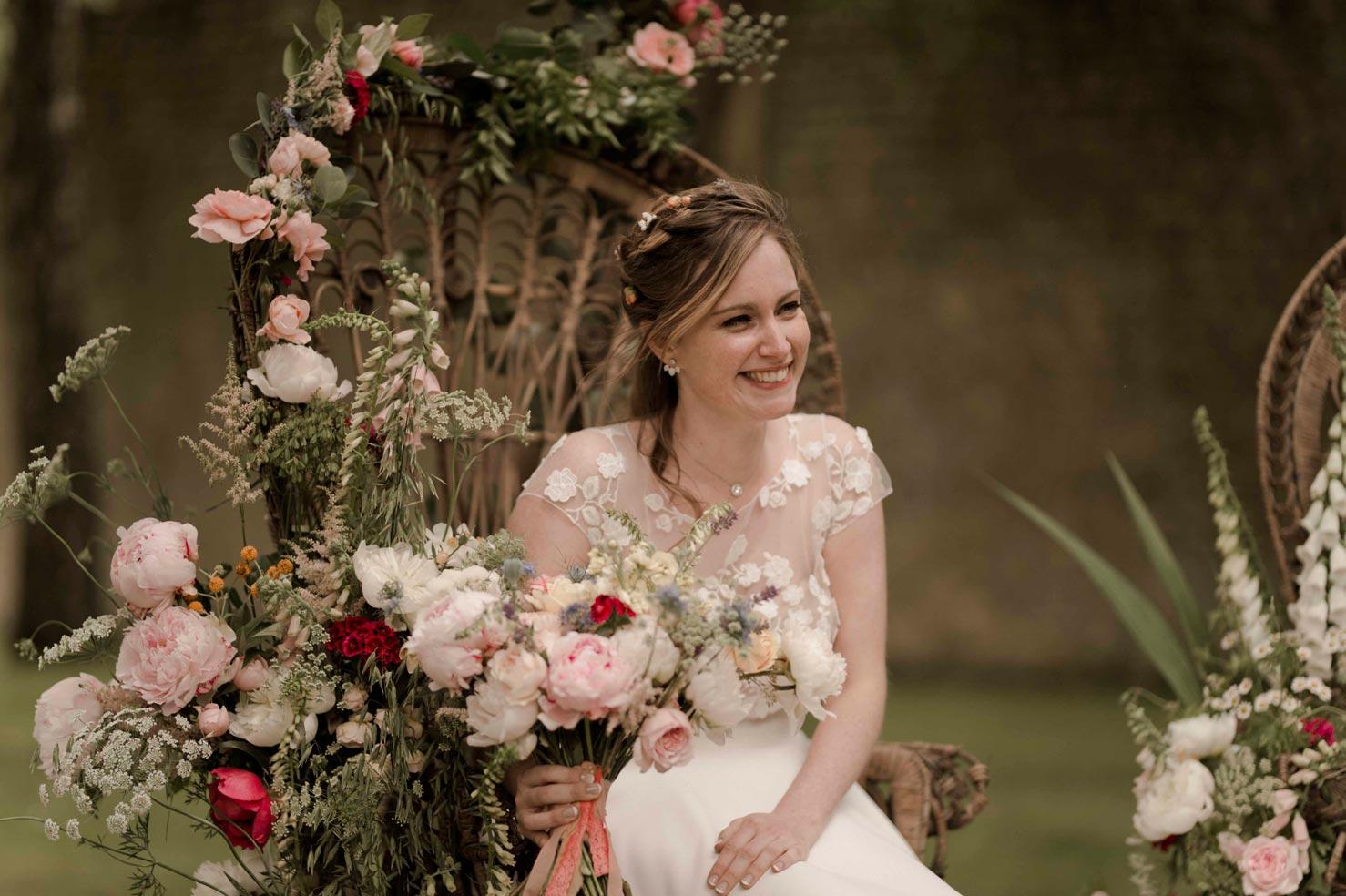 photo mariage folk et bohème