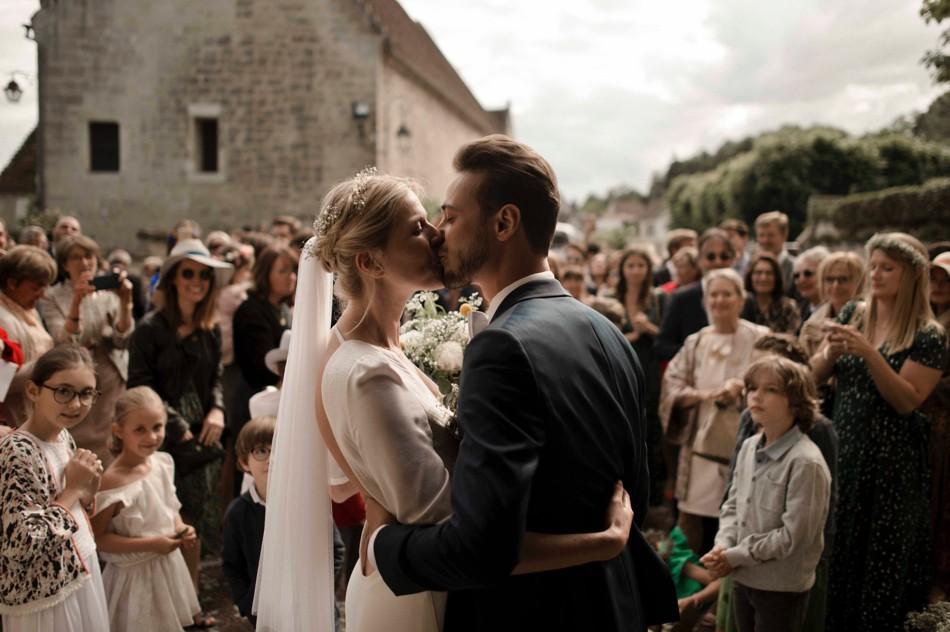 Sortie d'église mariés photo et vidéo