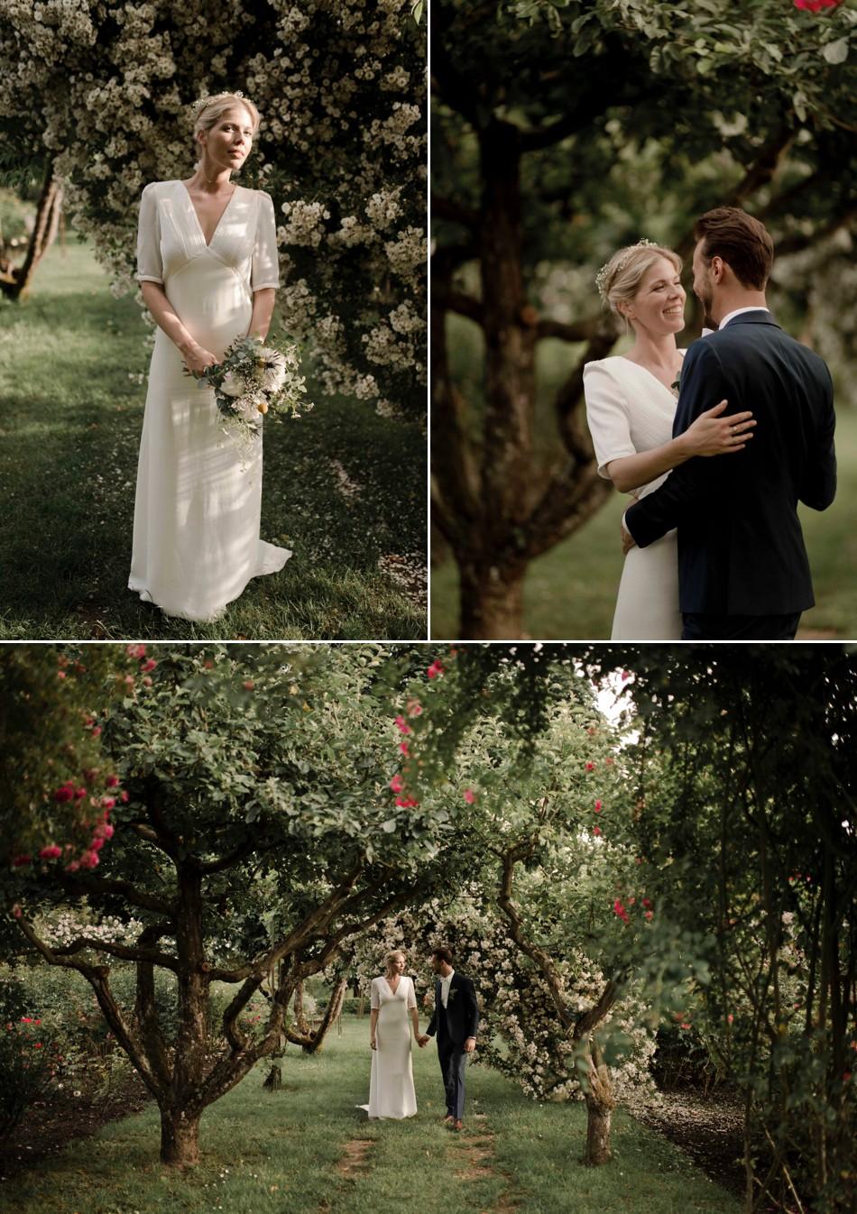 Photo de couple mariage végétal