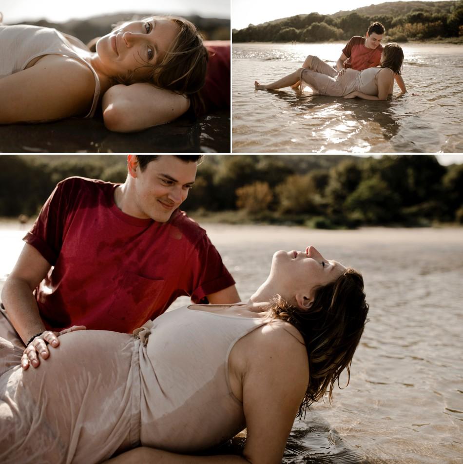 Photographe grossesse à la plage