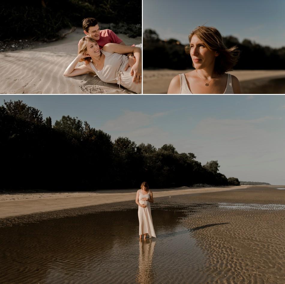 Séance grossesse dans la sable