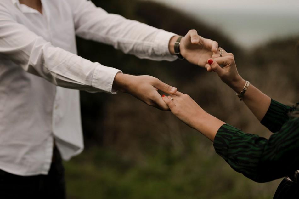Séance photo futurs mariés dans la Manche