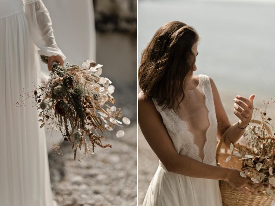 Robe de mariée décolleté plongeant