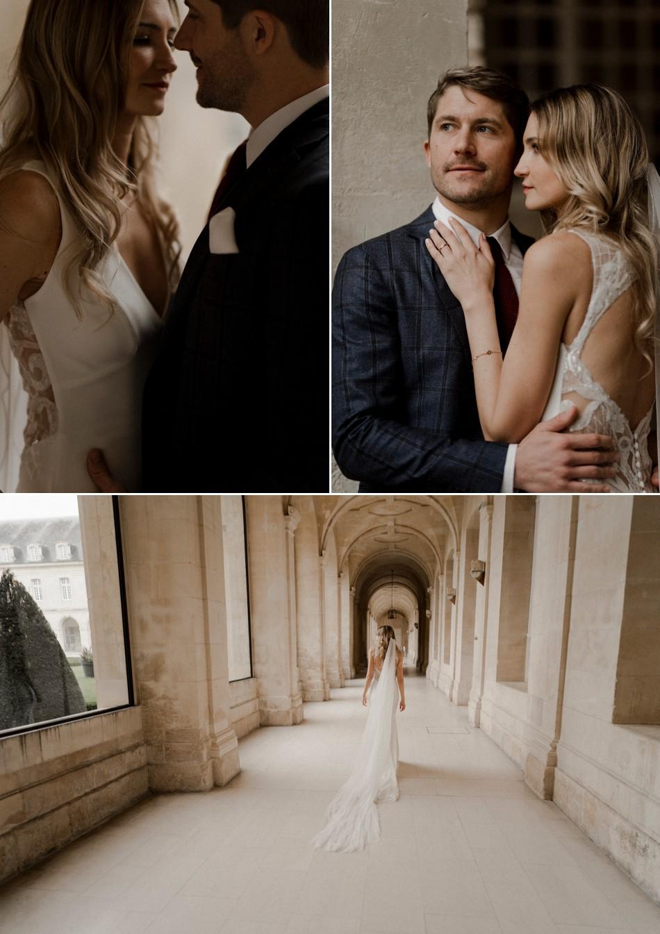 Séance couple dans une abbaye