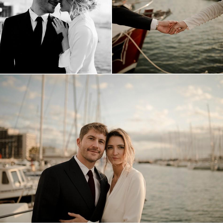 Photos de mariage à la mer
