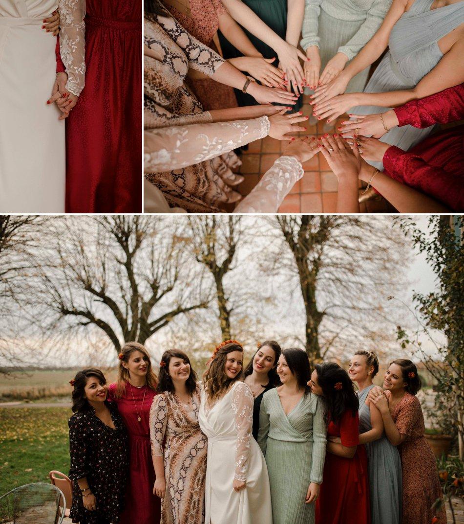 Photos de groupe mariage en hiver