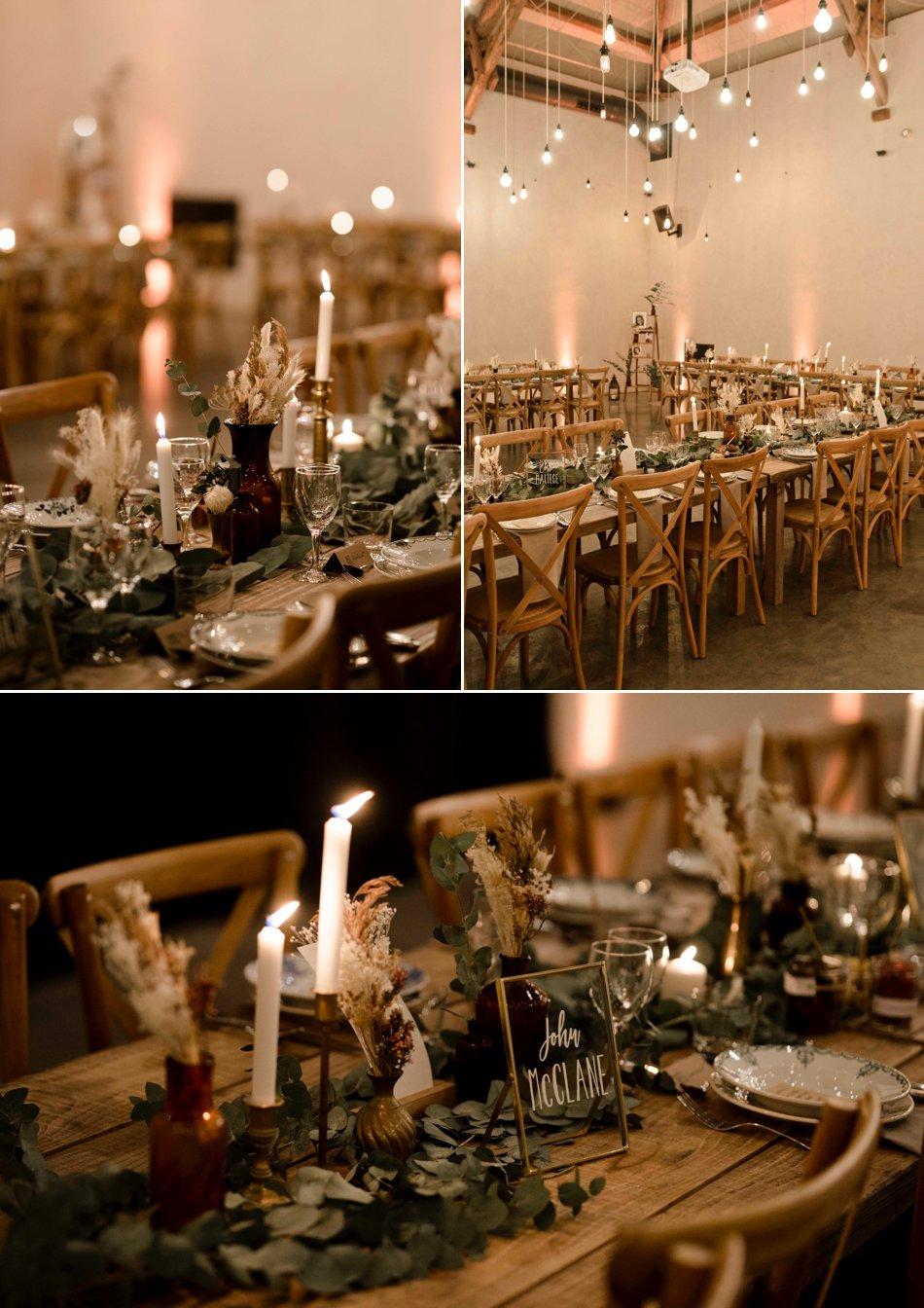 Décoration de table mariage en hiver