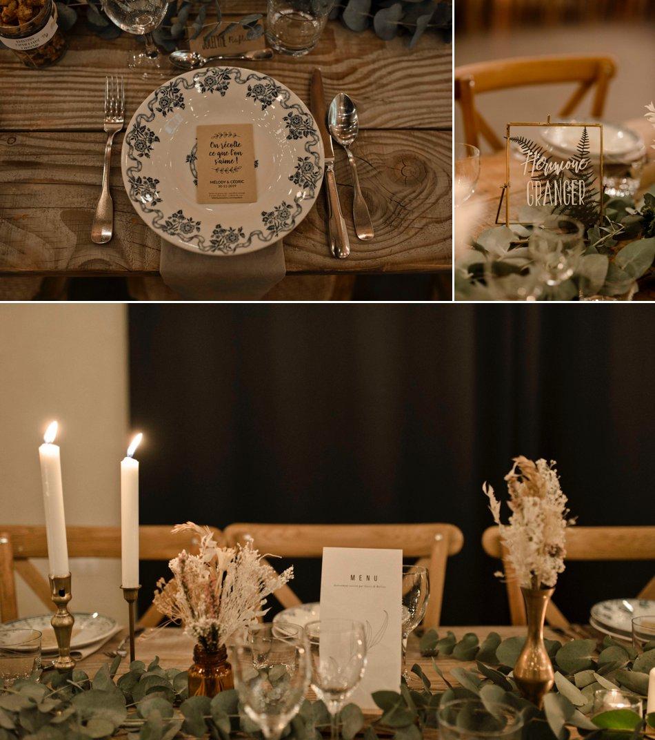 Décoration de salle mariage bohème