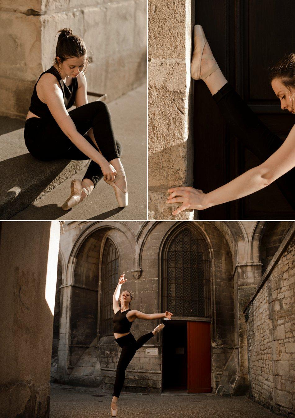 Séance photo en chaussons de danse