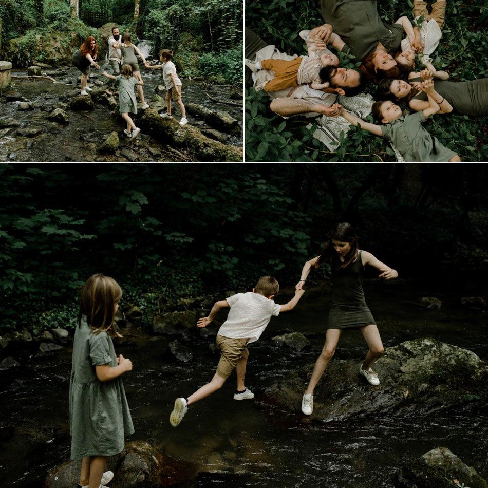séance famille en normandie forêt