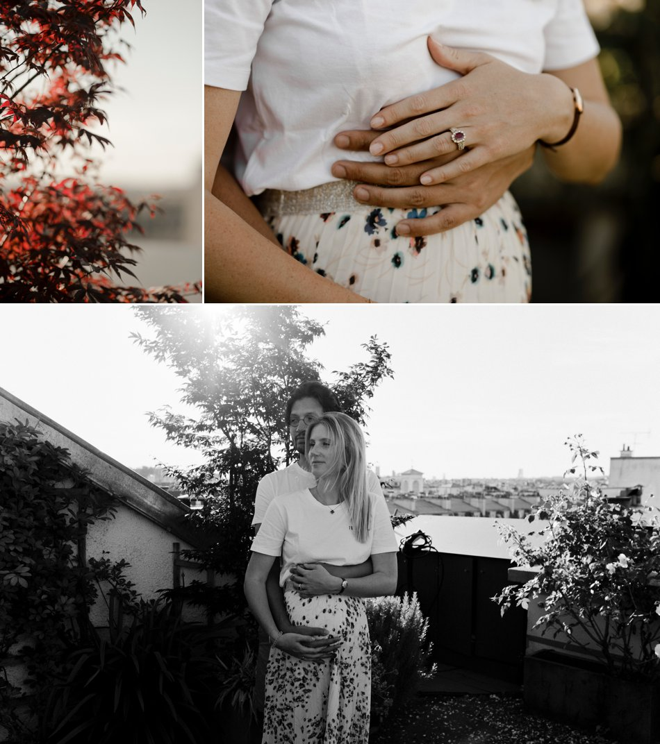 Photos de grossesse sur les toits
