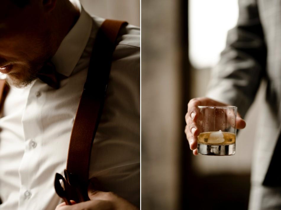 préparatifs du marié wisky