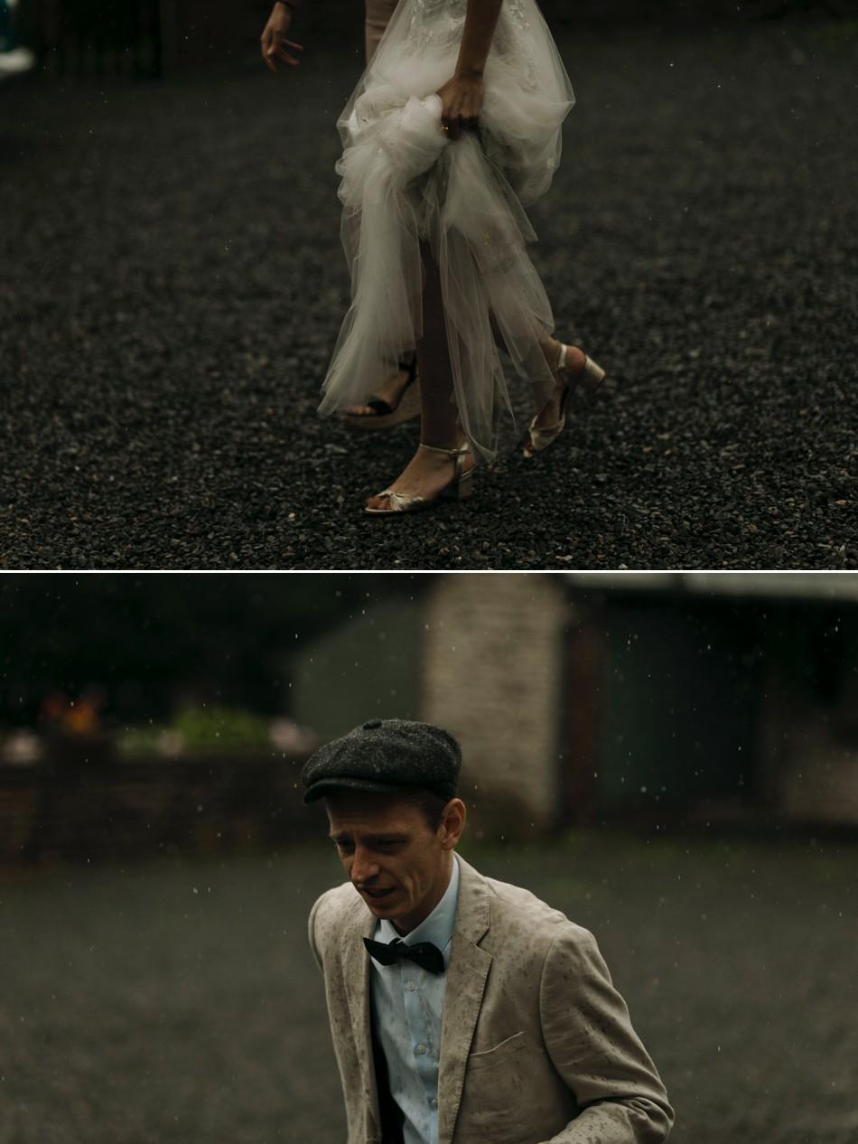 les mariés sous la pluie Normandie