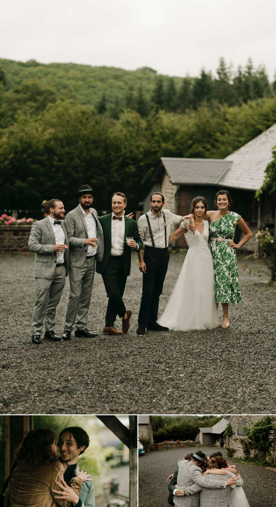 photos de groupe mariage en Vert