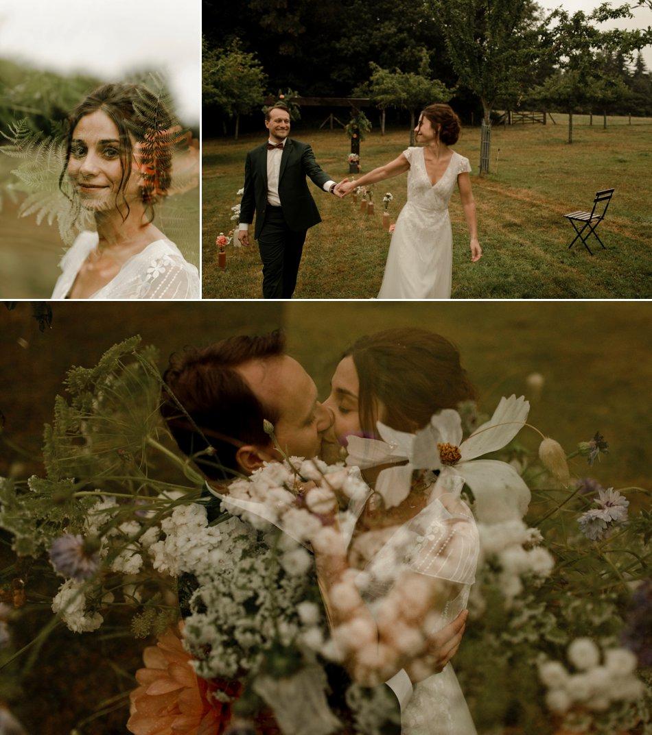 photos de couple dans les champs