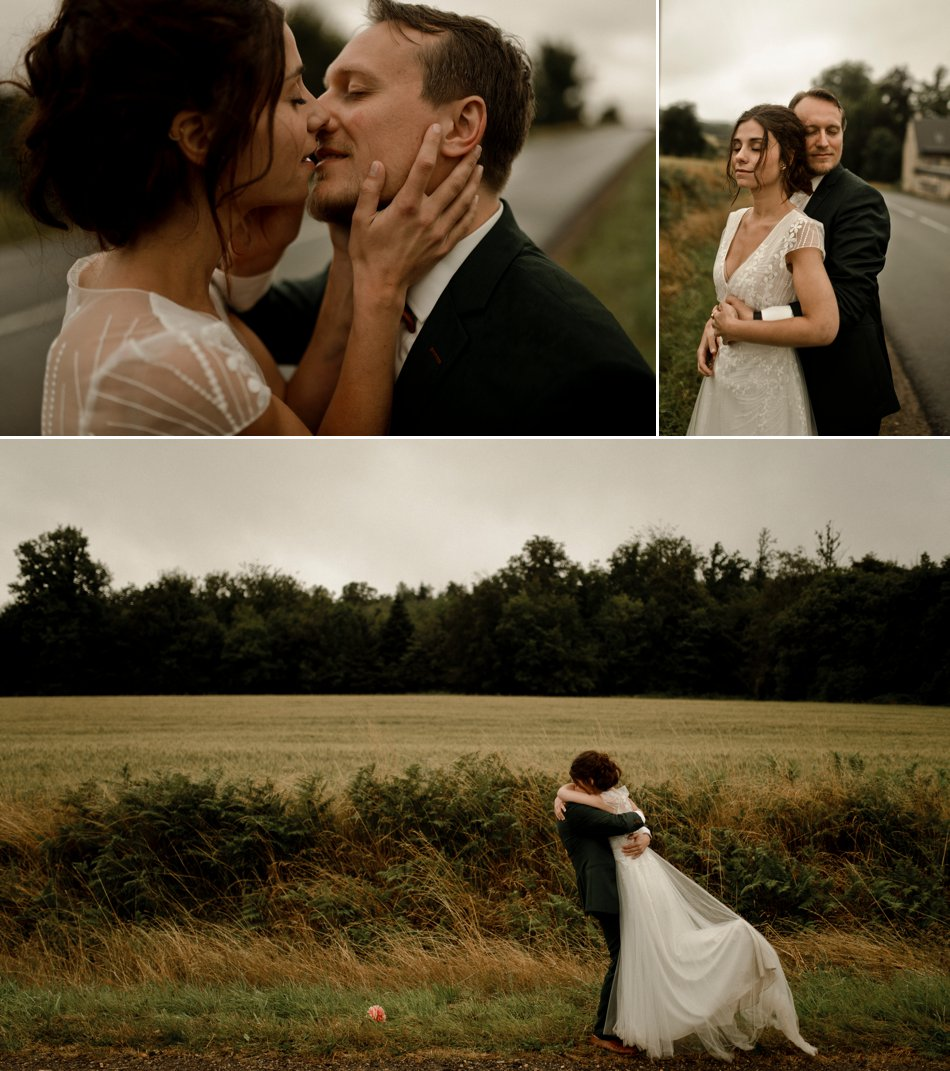 photos de couple mariage en normandie
