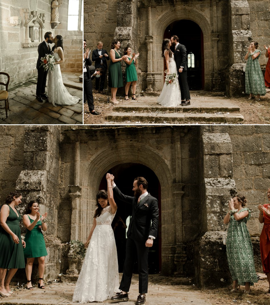 sortie de ceremonie mariage religieux