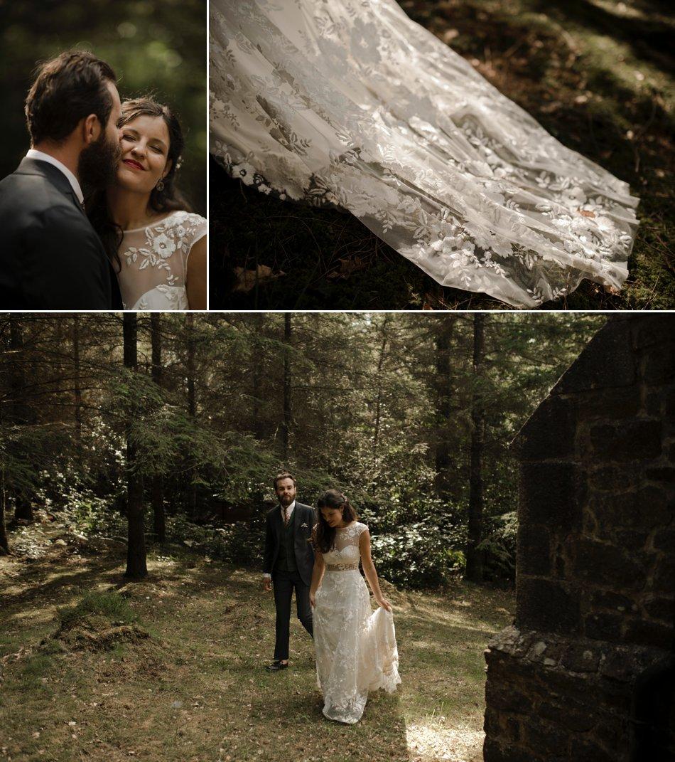 seance couple mariage dans les bois