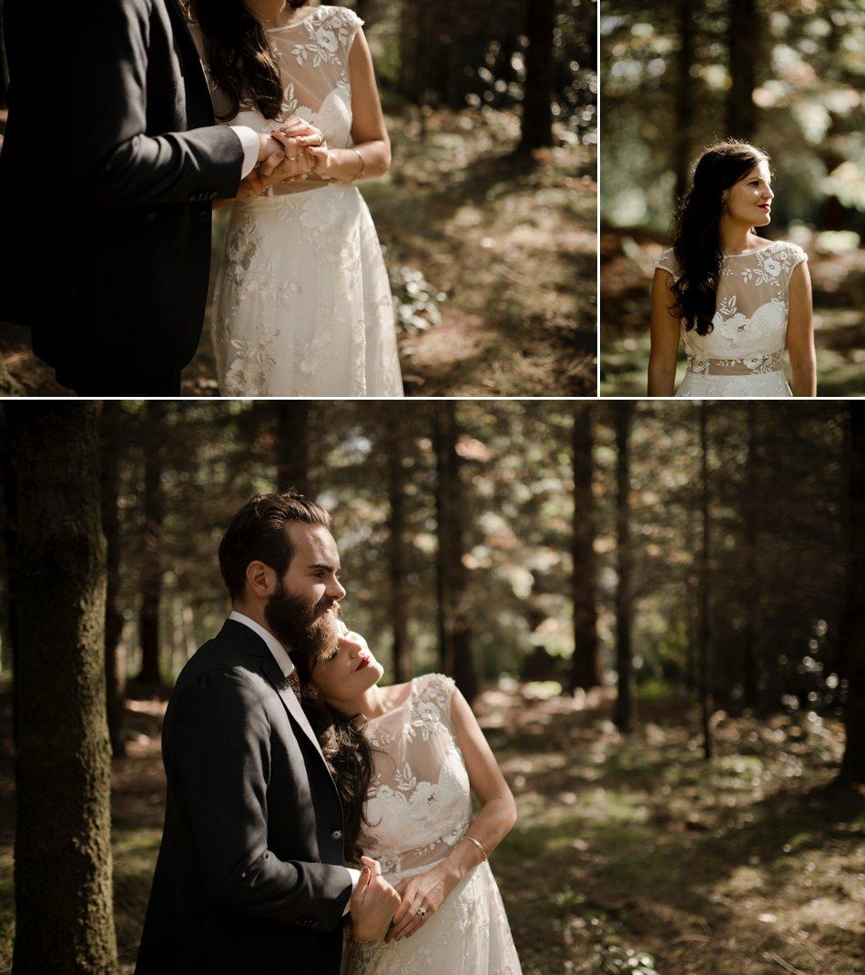 photos de mariage en foret