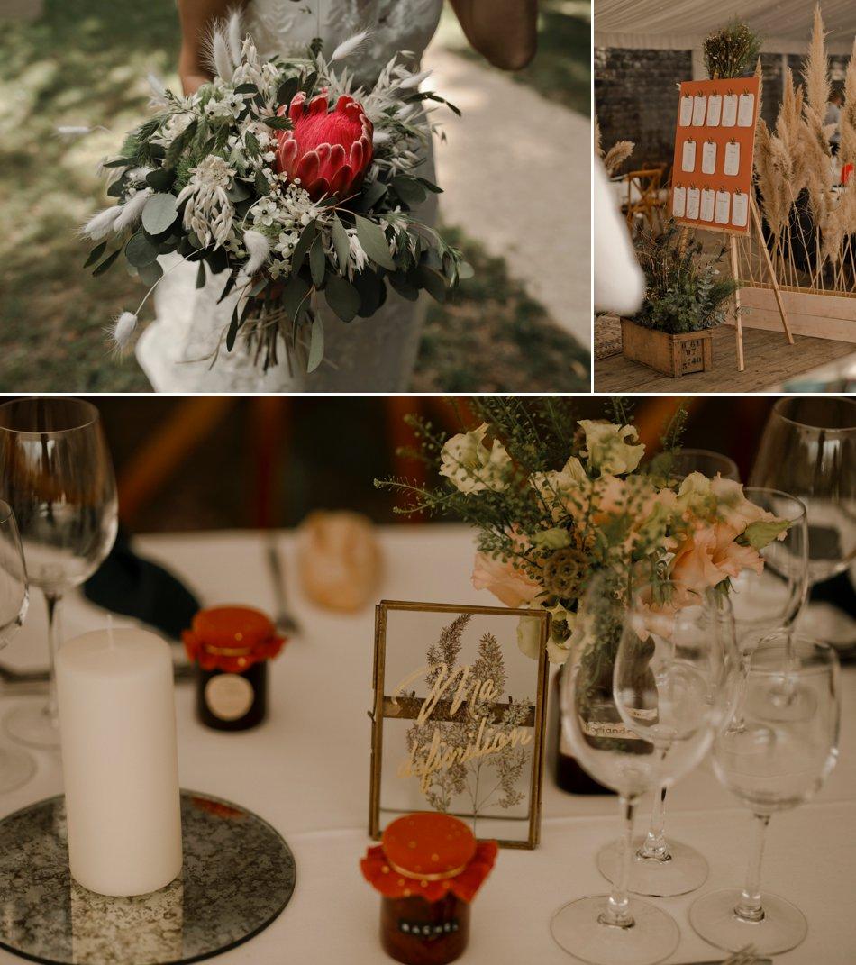 decoration de table mariage retro folk