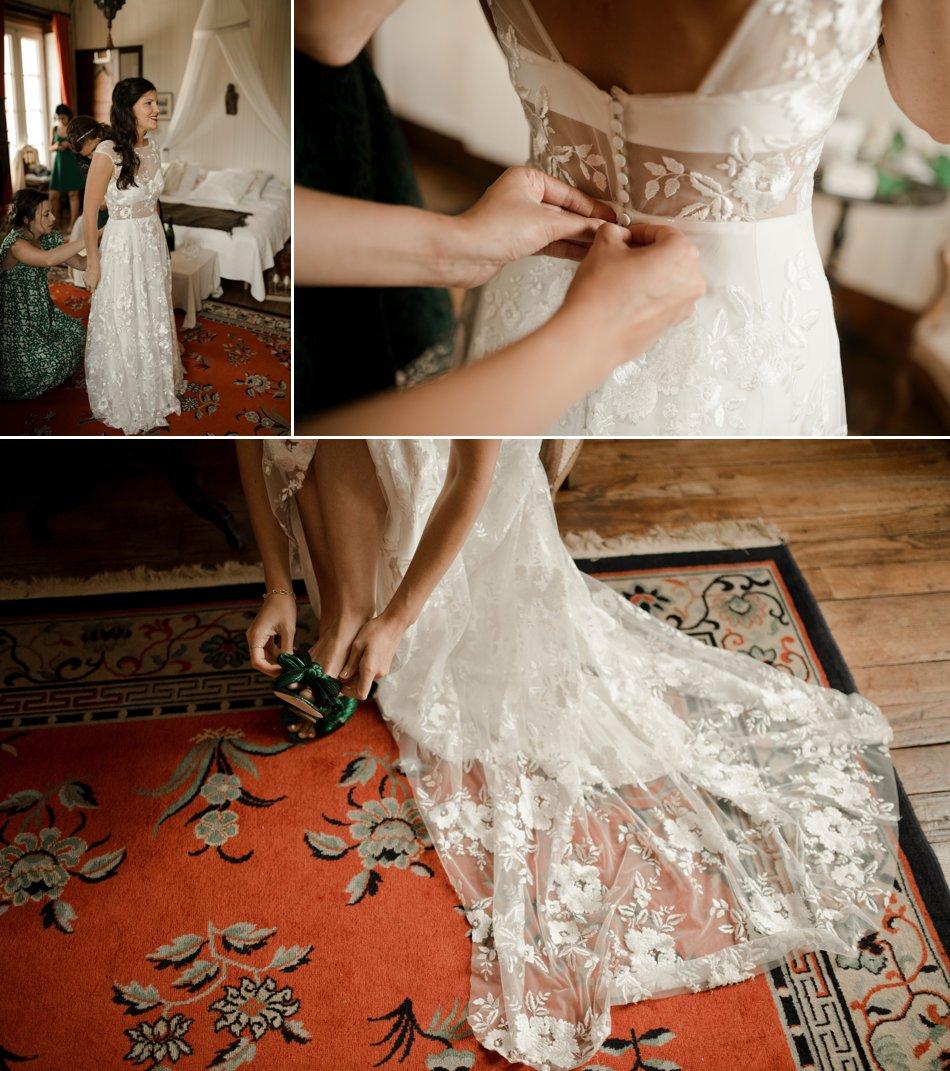 habillage de la mariee
