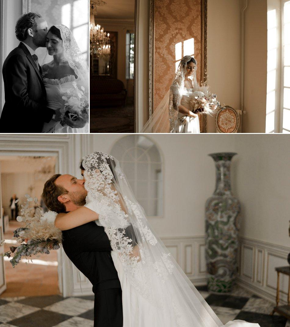 photos de couple mariage au chateau