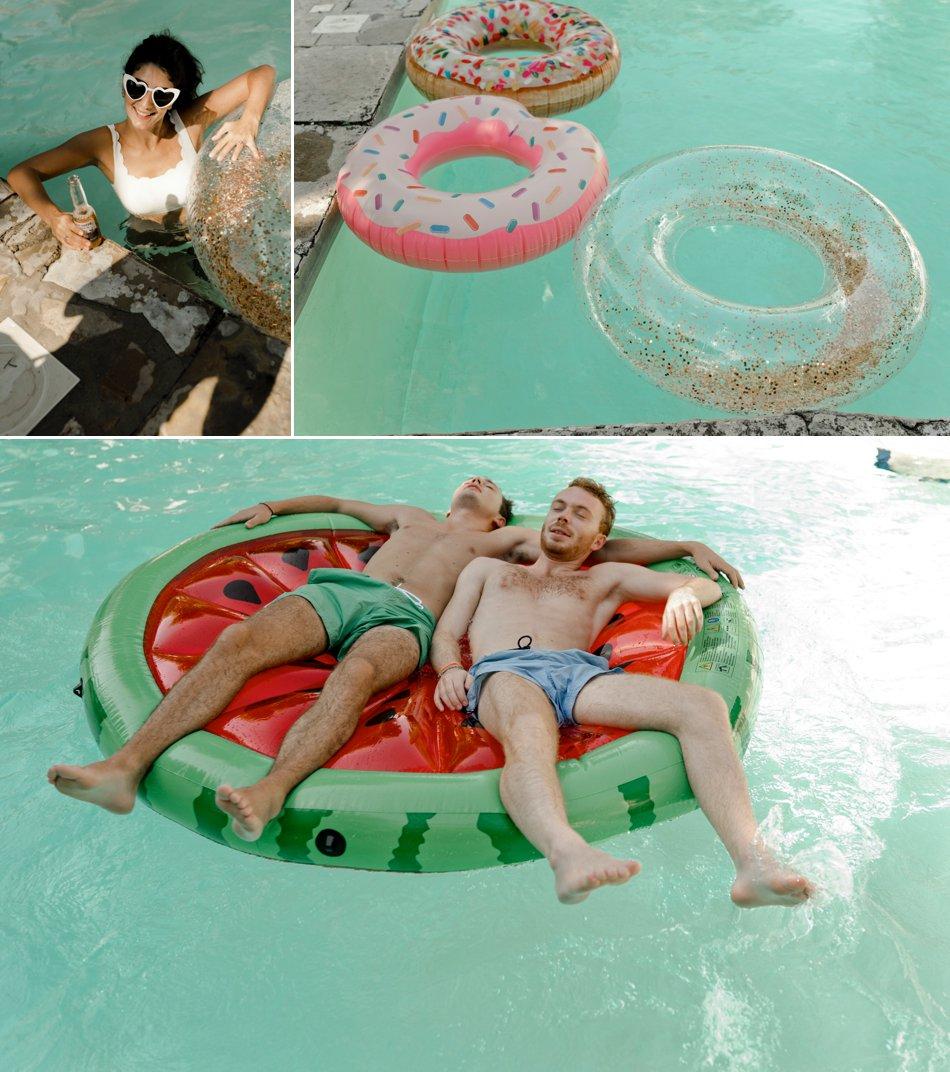 brunch mariage autour de la piscine