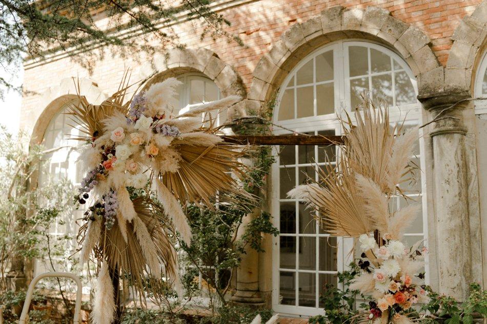 details decoration mariage dans le sud